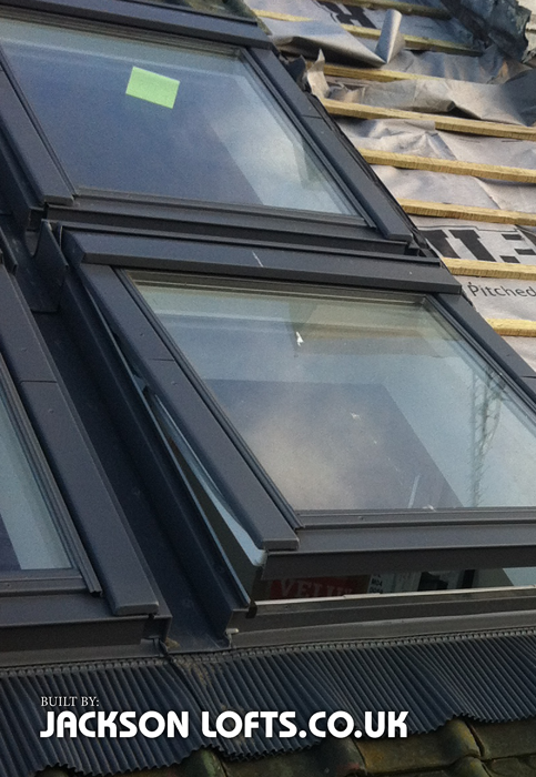 Velux installed and Loft Conversion built by Jackson Lofts, Brighton