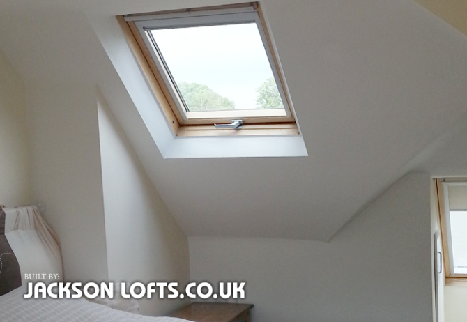 Velux window installed in Loft Conversion built by Jackson Loft Conversion