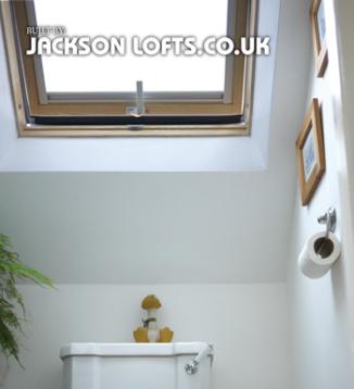 Toilet Velux window fitter, Jackson Loft Conversions, Brighton