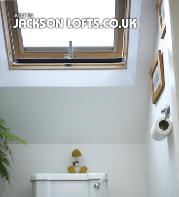 Toilet Velux window fitter, Jackson Loft Conversions, Brighton