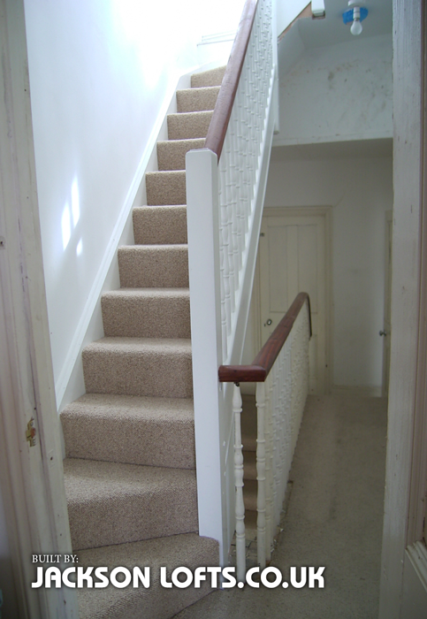 Victorian terrace house loft conversion staircase, built by Jackson Lofts