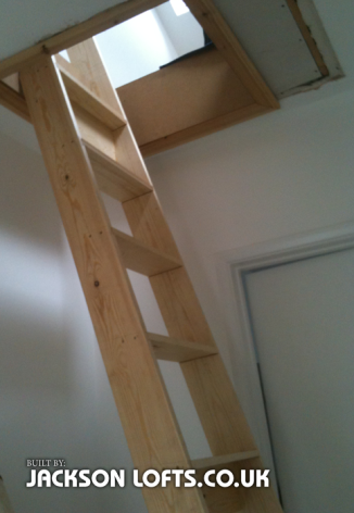 Permanent loft ladder to loft play room, installed by Jackson Lofts, Brighton