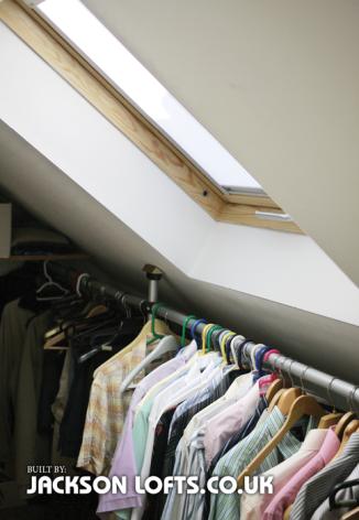 Walk in wardrobes in your Loft Conversion built by Jackson Lofts Brighton