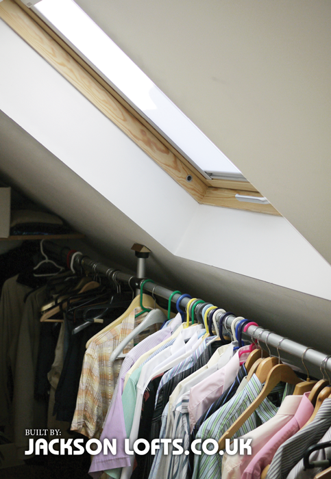 Walk in wardrobes in your Loft Conversion built by Jackson Lofts Brighton