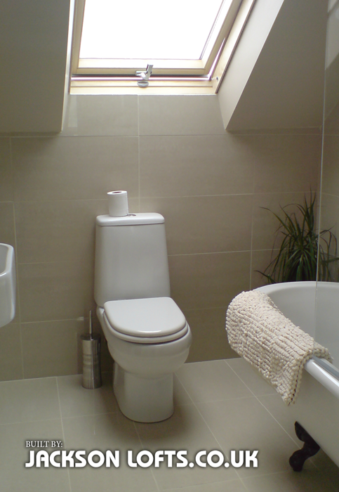 Loft conversion bathroom example, Jackson Lofts, Brighton