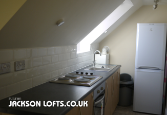 House conversion, Kitchen in loft conversion built by Jackson Lofts