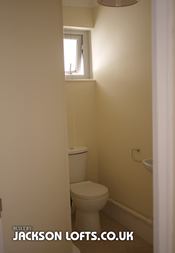Additional toilet taken from a bedroom built by Jackson Lofts, Brighton