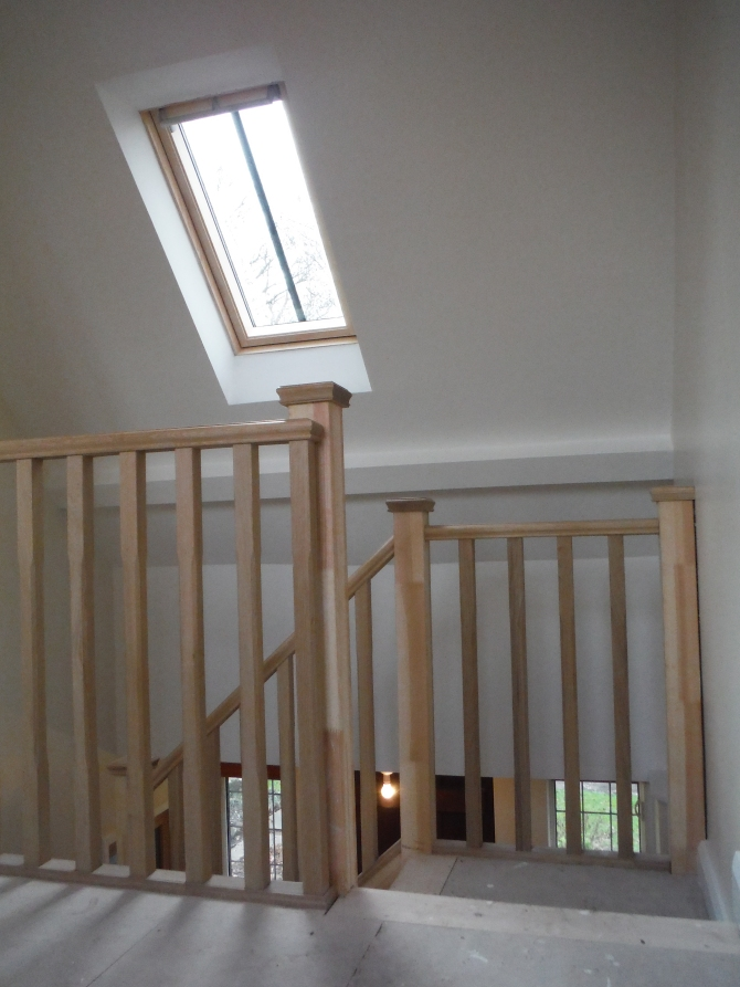 Stair well in loft conversion Sussex Richard Jackson, Carpenter, Brighton