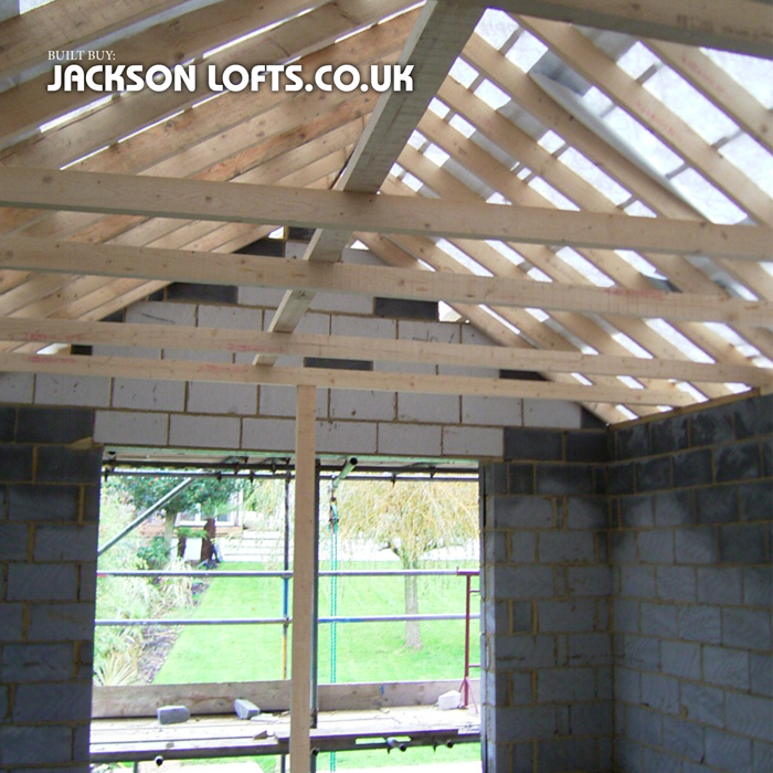 Extension roof built by Richard Jackson Carpenter, Brighton, UK