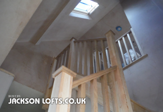 Staircase fitted into 1960s bungalow for loft conversion by Jackson Lofts, Brighton