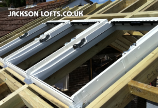 Installation of Velux windows onto an extension roof by Richard Jackson