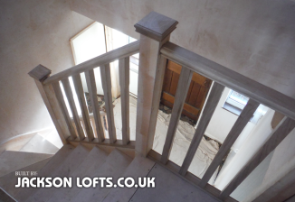 The position of a staircase in a loft conversion by Jackson Lofts, Brighton