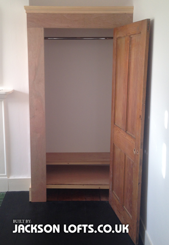 Alcove wardrobe built by Richard Jackson, Carpenter