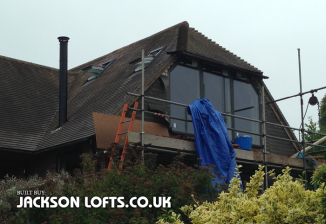 Part build loft conversion and window installation, Handcross, Sussex