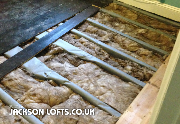 Insulation under floor boards in Victorian house, Jackson Lofts, Brighton