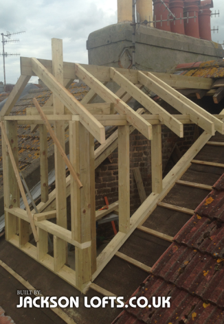 Pitch roof dormer built in Brighton by Jackson Lofts, Loft Conversions and Carpentry