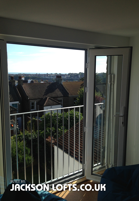 Dormer juilet balcony built and installed  by Richard Jackson, Jackson Loft Conversions and Carpentry, Brighton, Sussex