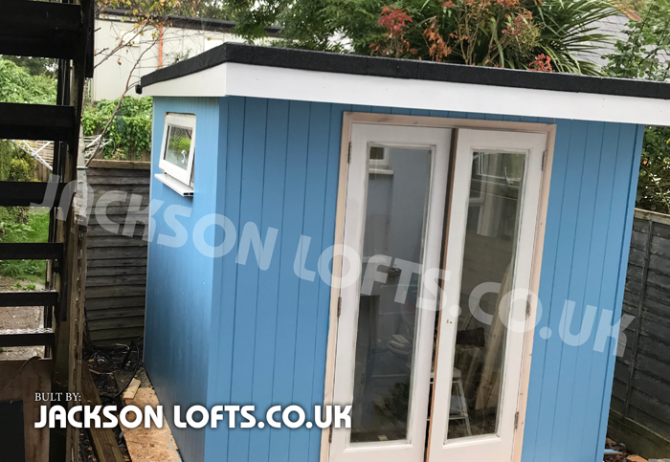 A bespoke garden shed studio built in any size or shape by Richard Jackson, Jackson Lofts Brighton