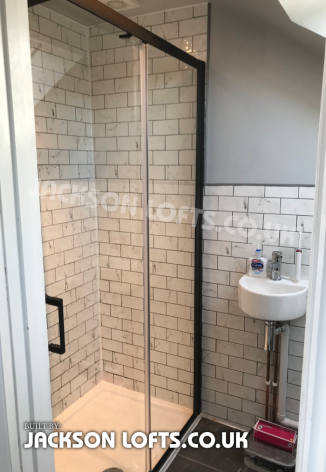 Shower room built by Richard Jackson, Jackson Loft Conversion, Brighton