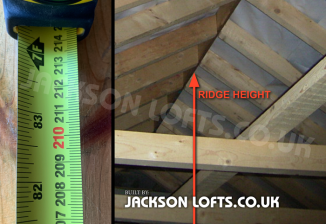 Ridge height easy check by Jackson Loft Conversions, Brighton East Sussex UK