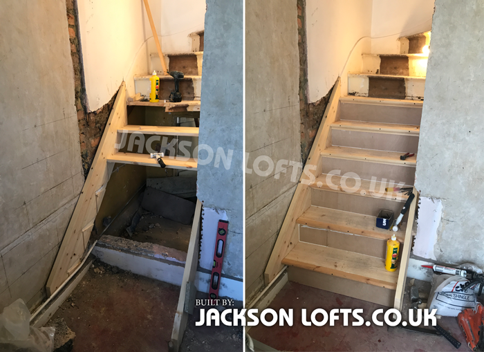 Loft Conversion staircase built by Richard Jackson
